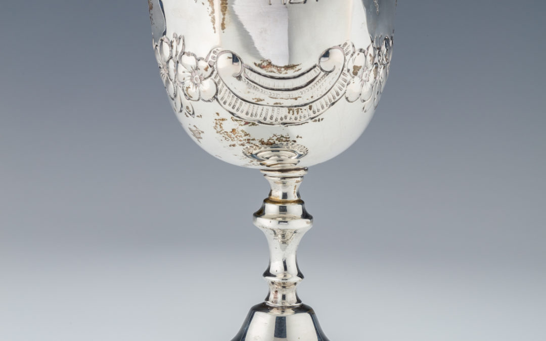 001. Large Silver Kiddush Goblet