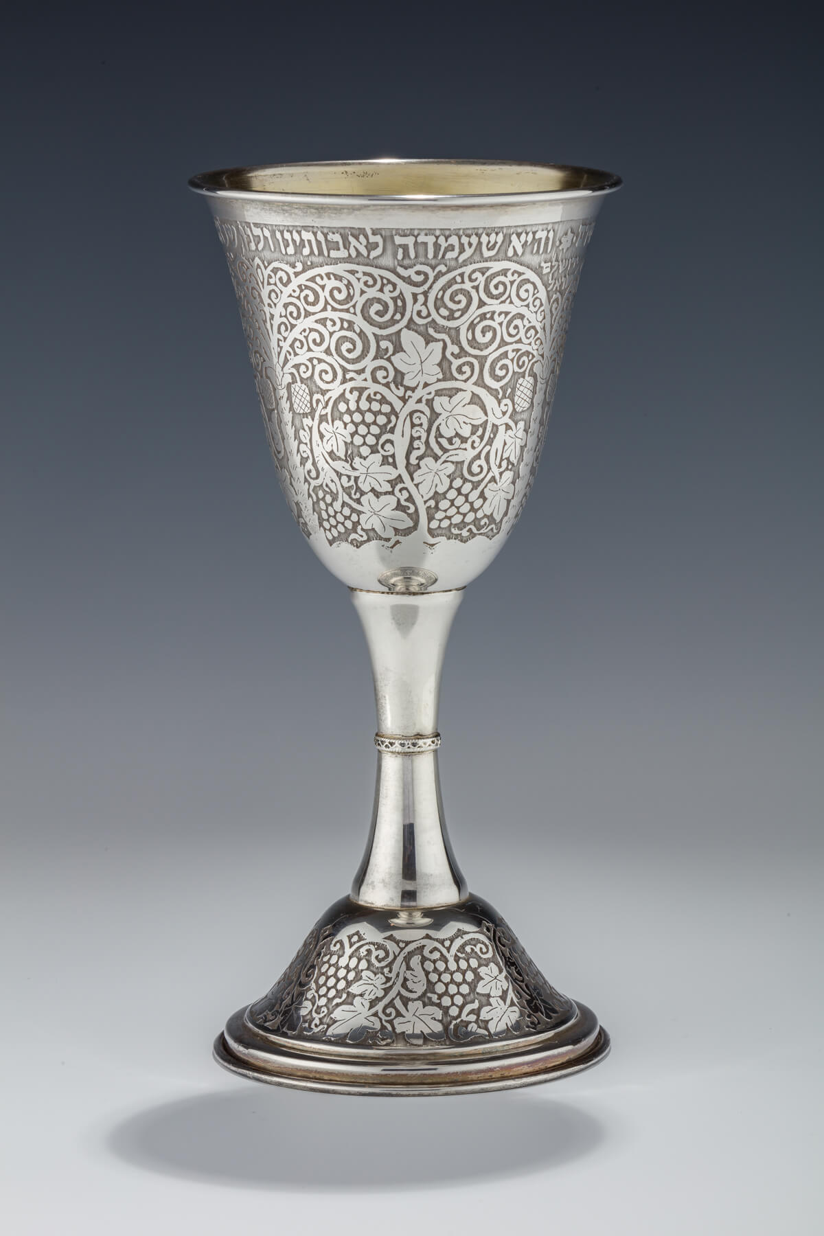 004. A Monumental Sterling Passover Goblet