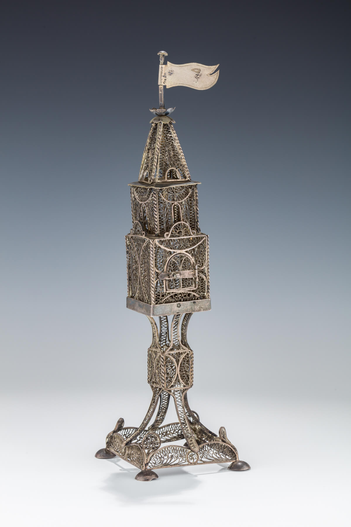 019. A Large Filigree Spice Tower
