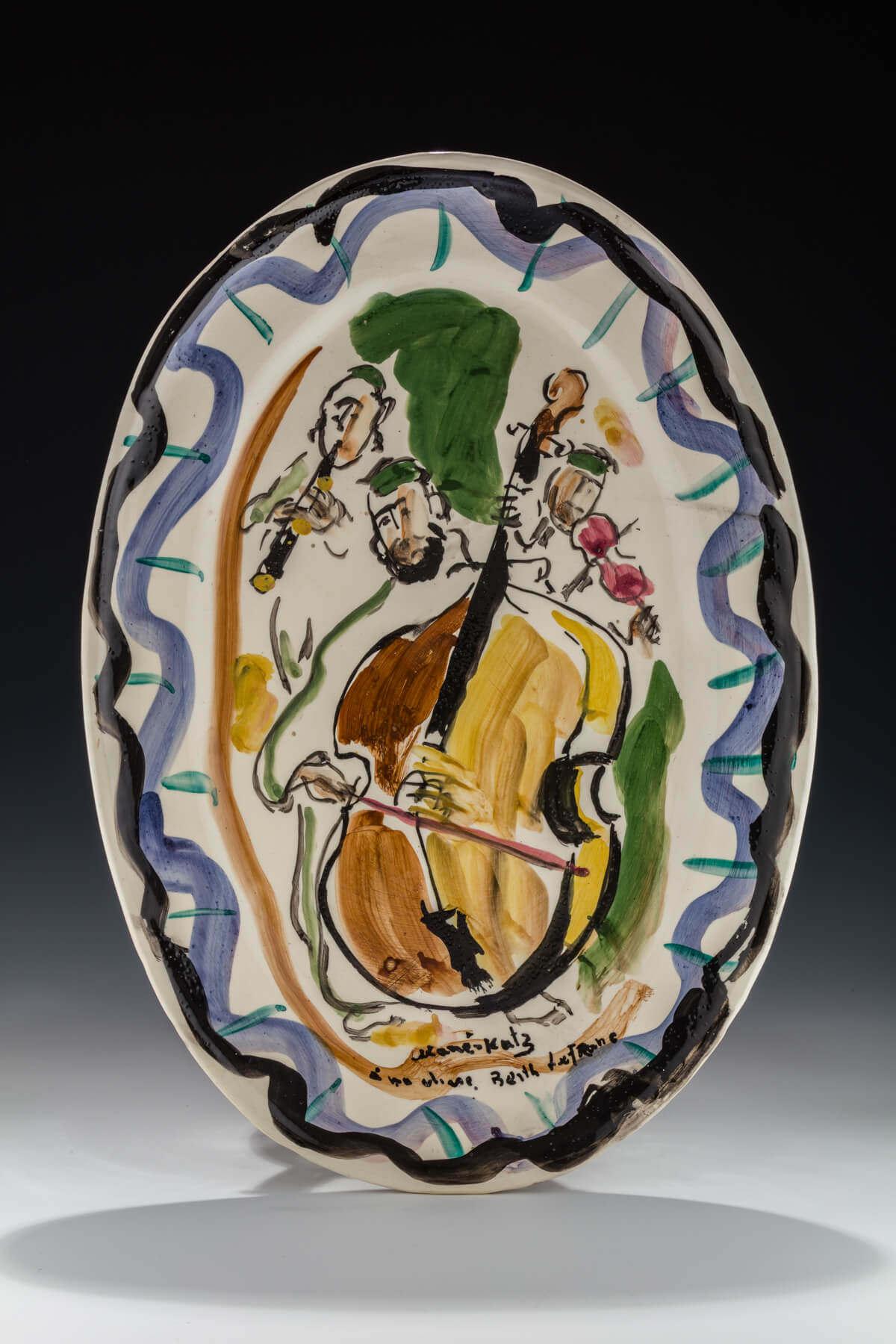 158. A Ceramic Plate by Mane Katz