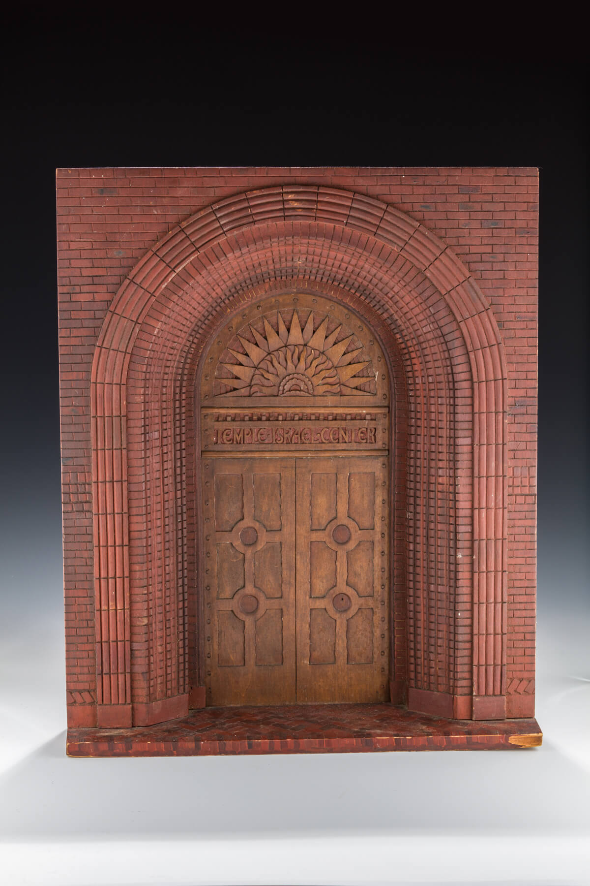 069. A Hand-Carved Model of a Synagogue Entrance