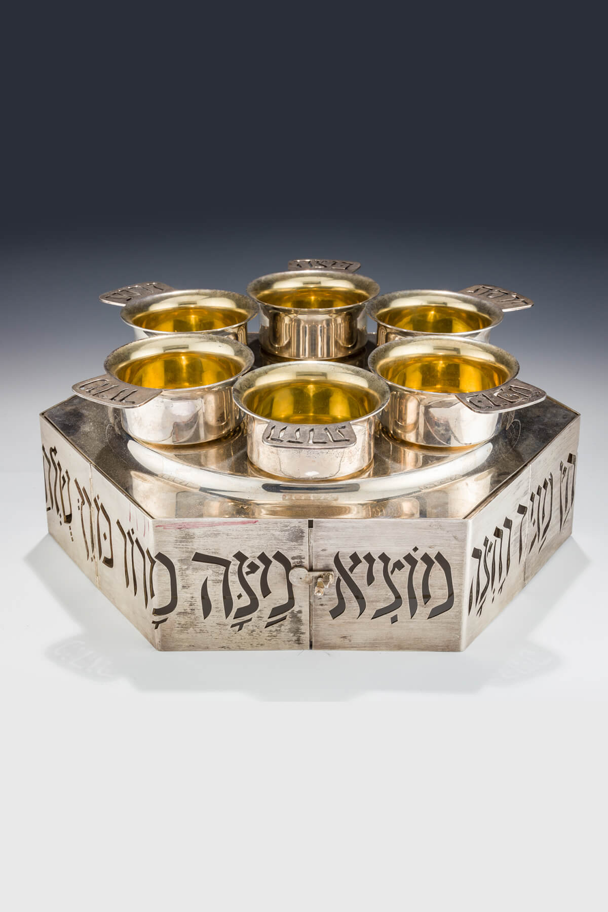 126. A Massive Sterling Silver Passover Compendium by Carmel Shabi
