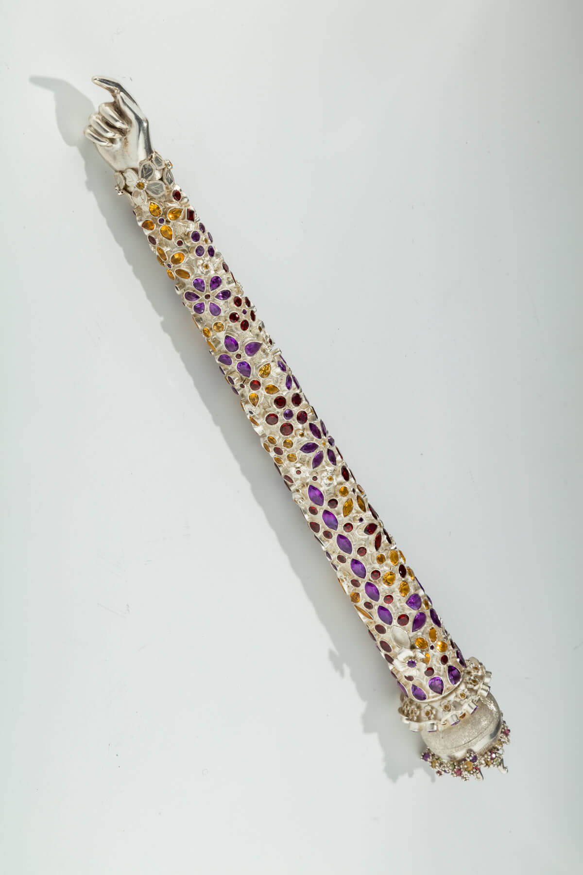 118. A Monumental Gem-Encrusted Torah Pointer by Dekel Aviv