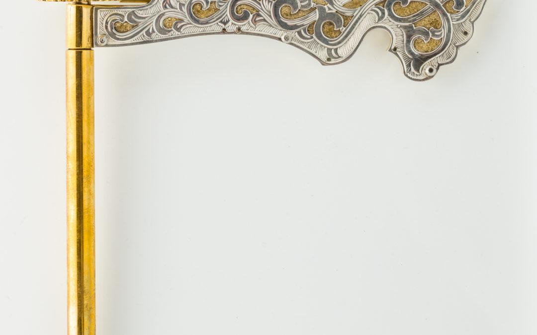 130. A Sterling Silver Gragger by Yoel Rivlin