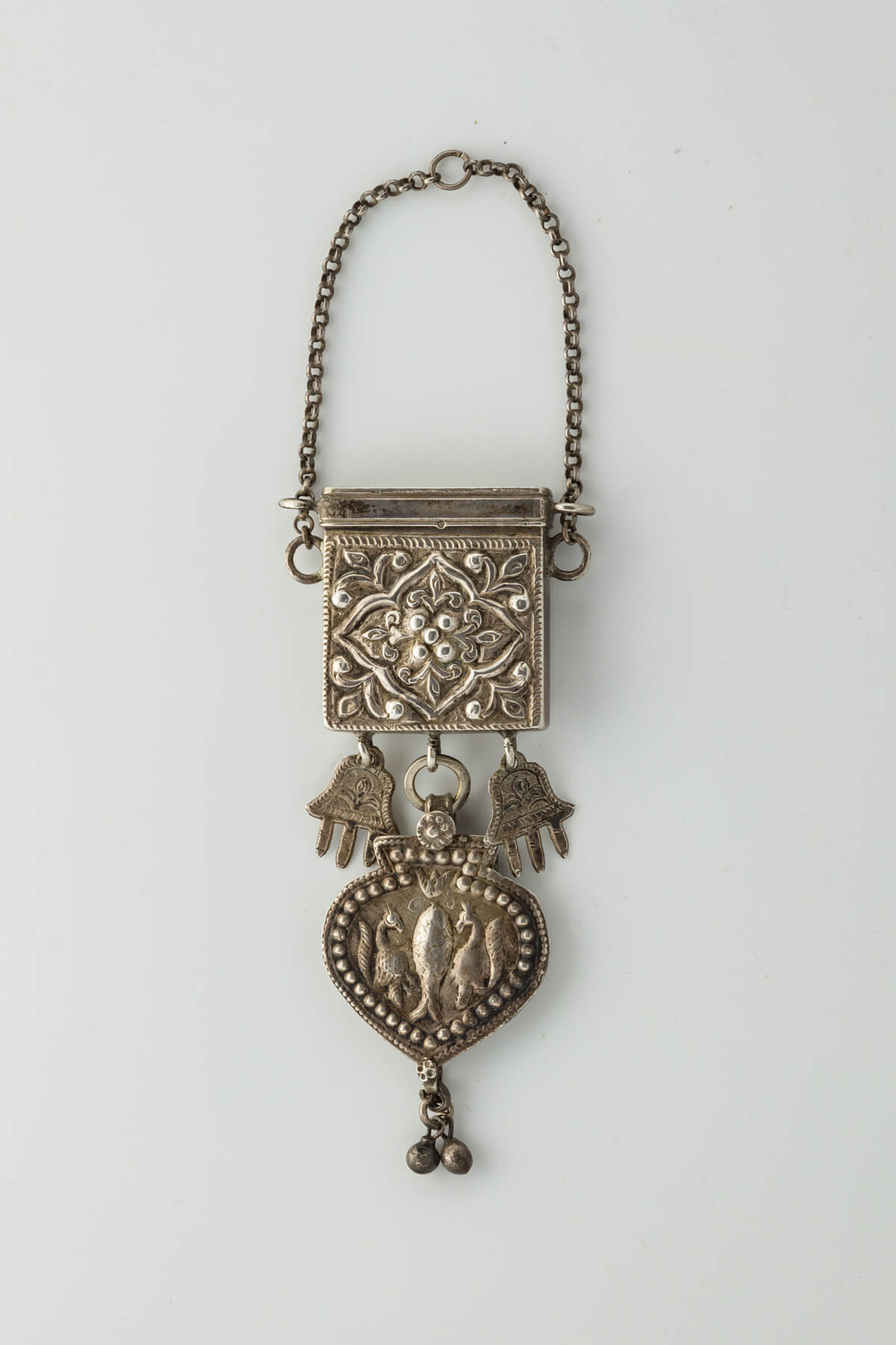 026. An Exceptionally Rare Silver Amuletic Necklace