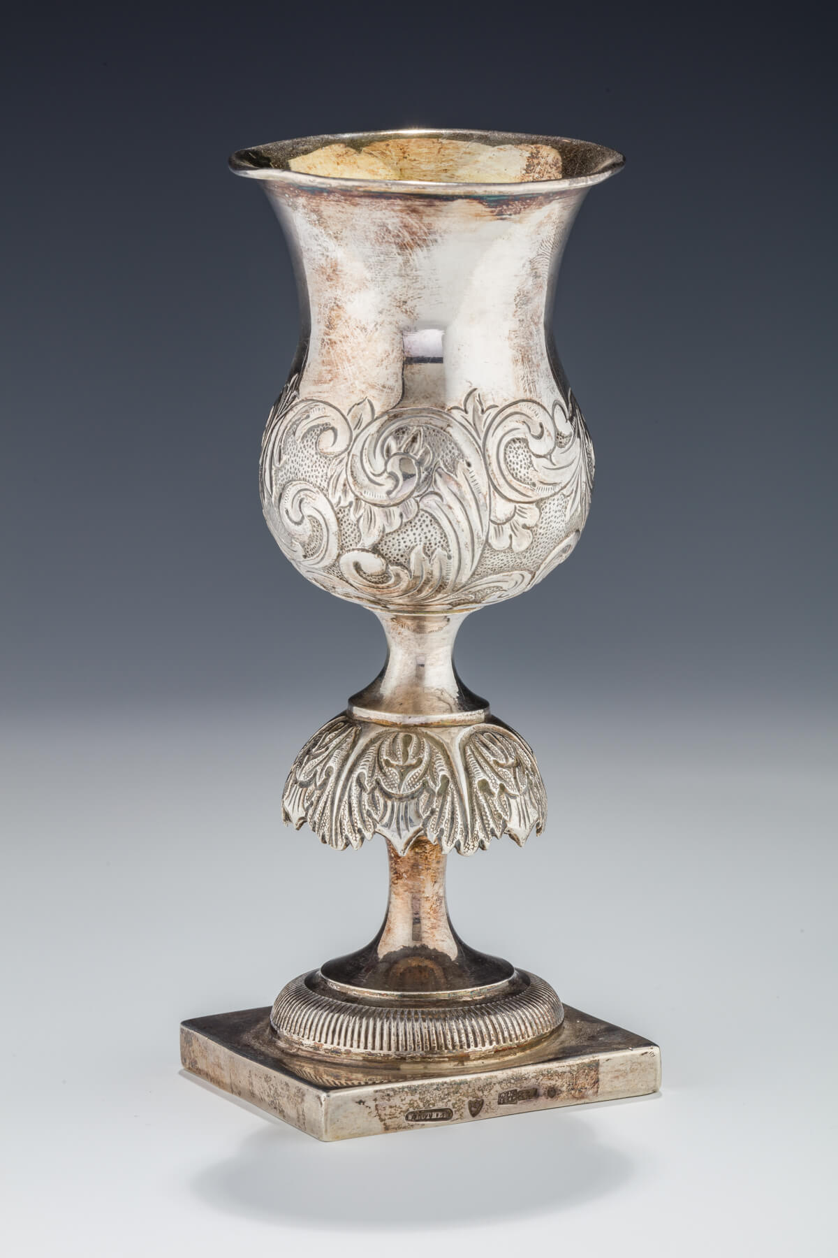 015. A Large Silver Kiddush Goblet by William Luther