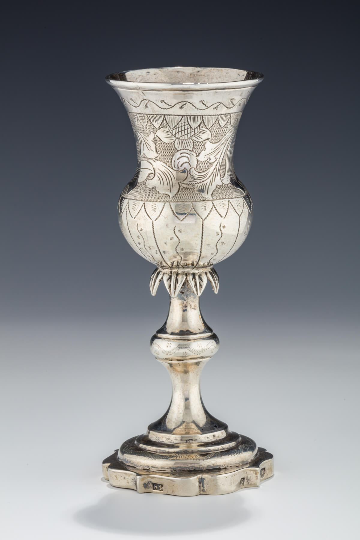 044. A Large Silver Kiddush Goblet