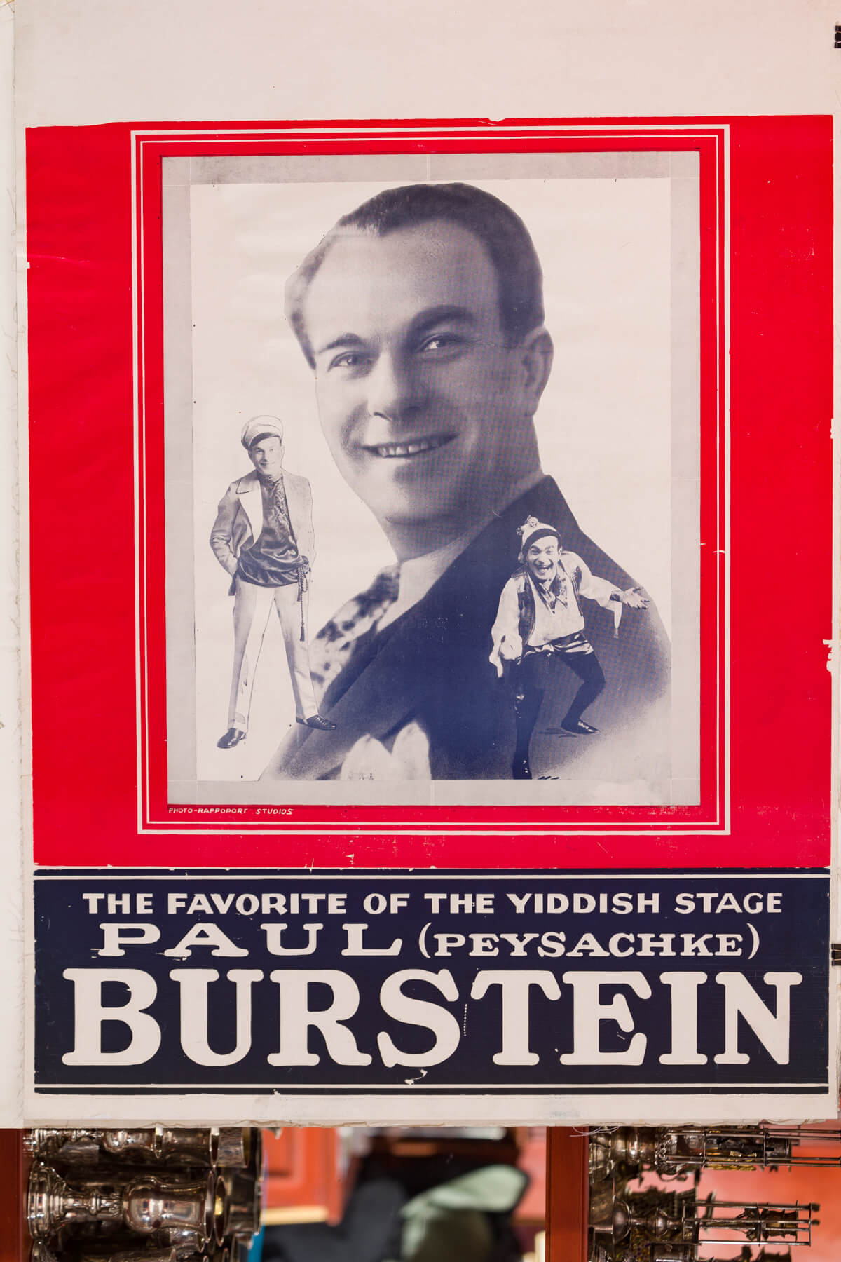 173. Yiddish Theatre Poster: Paul Burstein