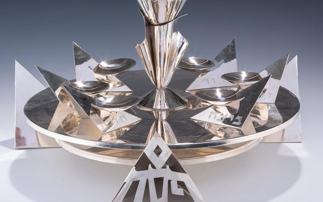 127. A Sterling Silver Seder Tray by Harold Rabinowitz
