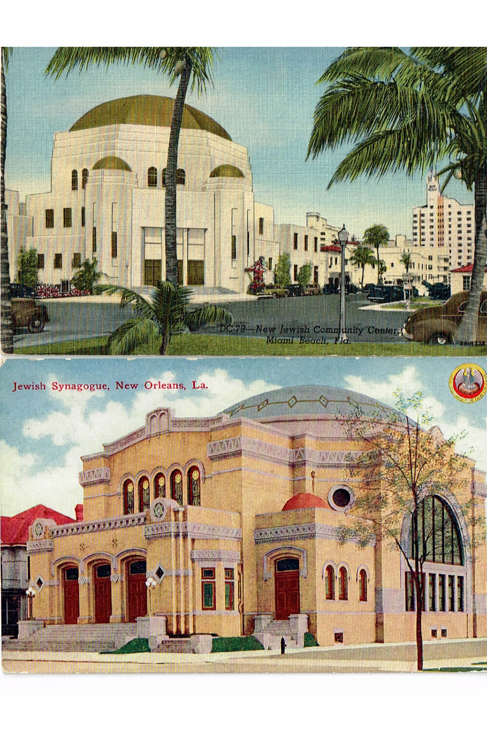 164. A Group of 26 Synagogue Postcards