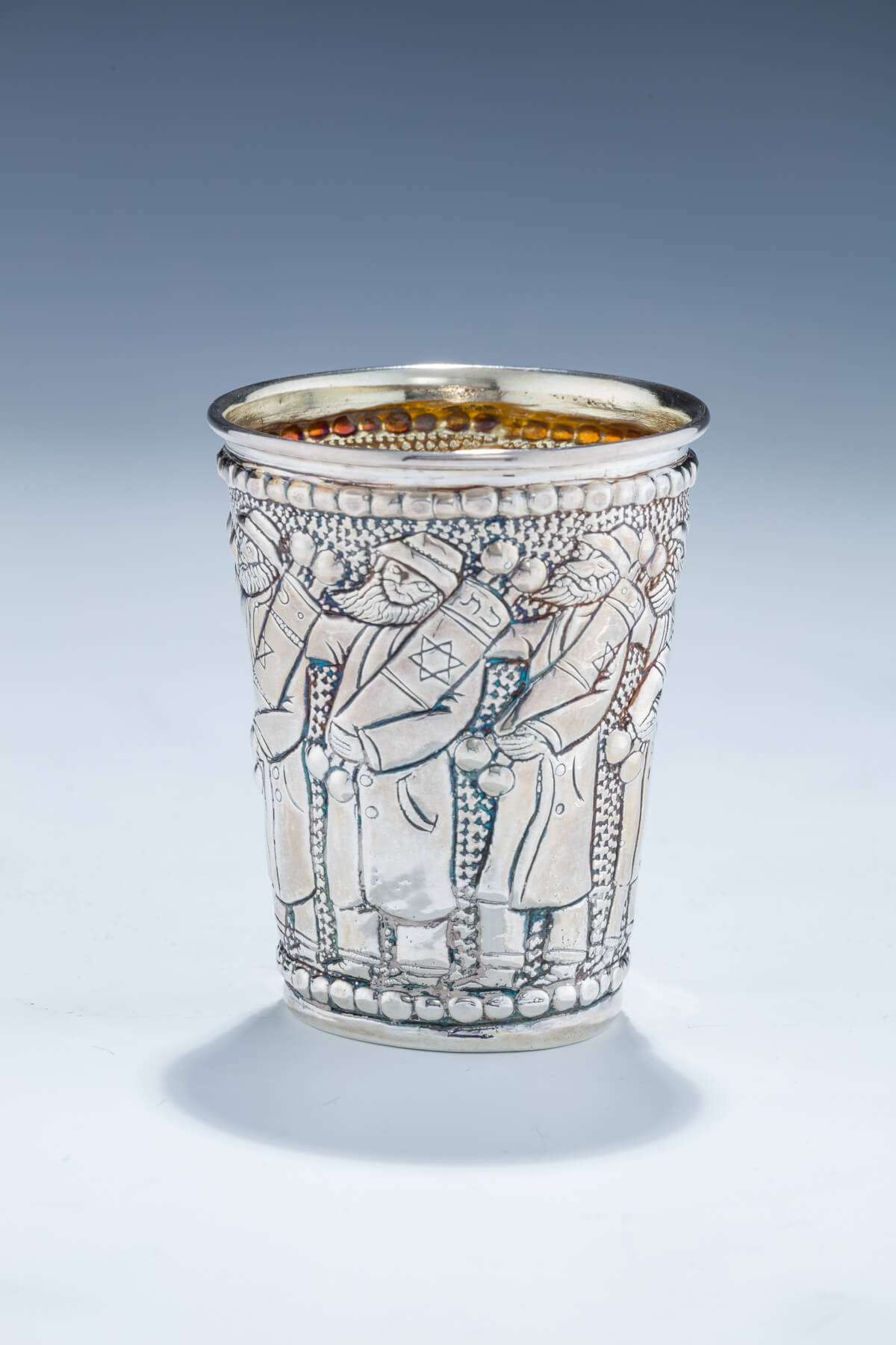132. A Sterling Silver Kiddush Beaker by Michael Ende