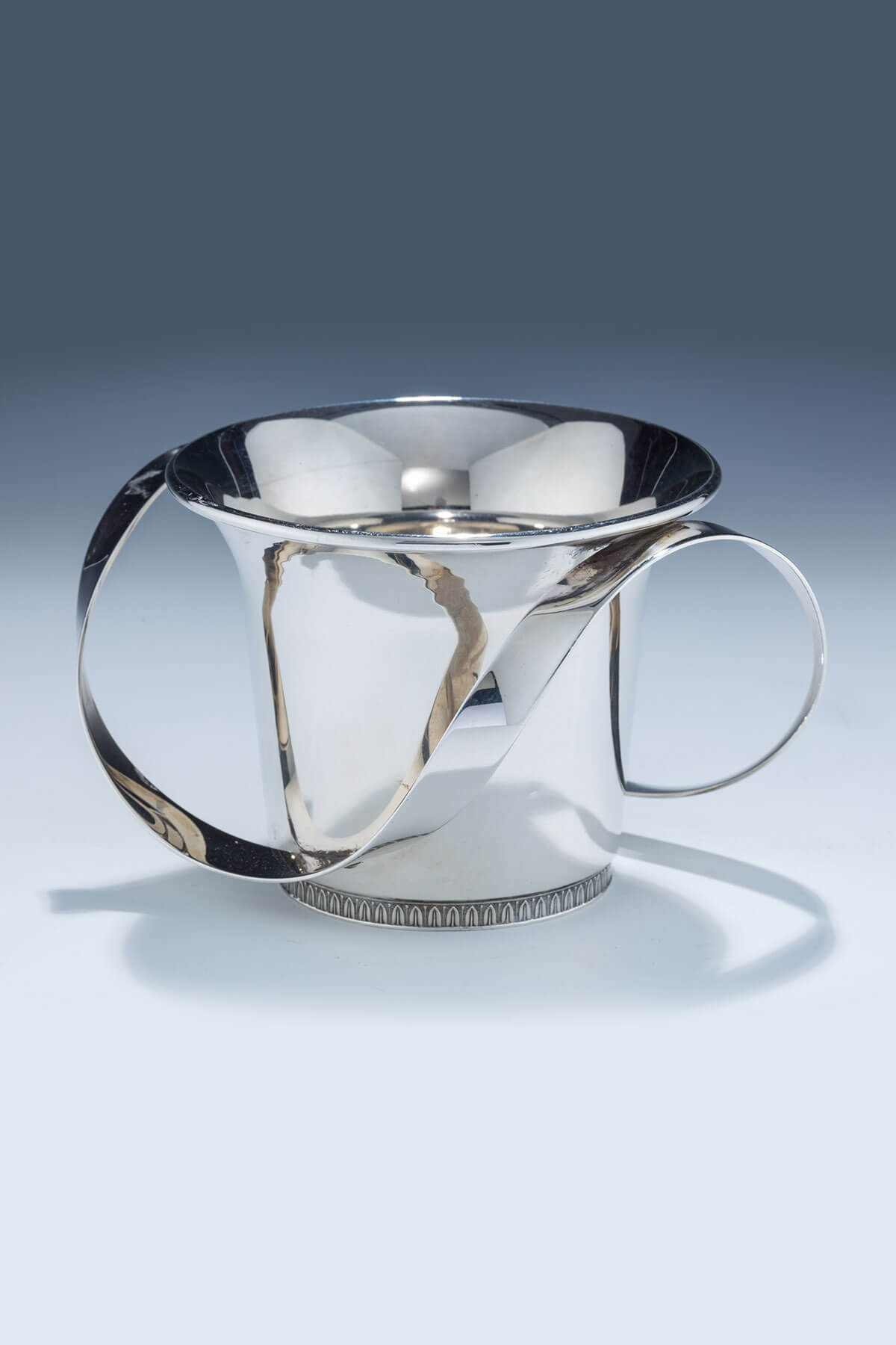 148. A Large Sterling Silver Washing Cup by Carmel Shabi