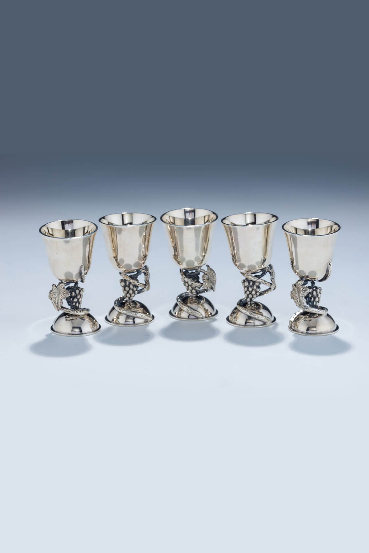 156. Five Sterling Silver Goblets by Swed Master Silversmiths