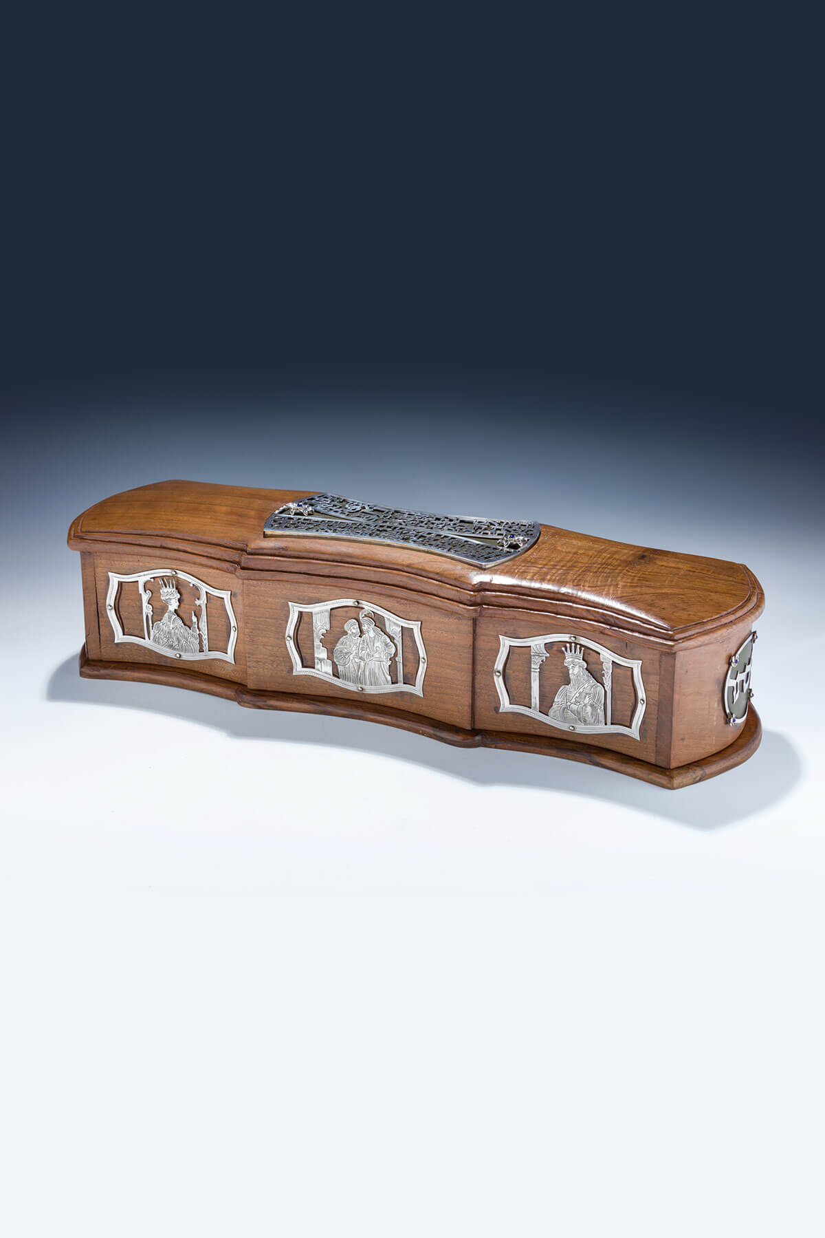 138. A Hand Made Wooden And Sterling Megillah Case by Dekel Aviv