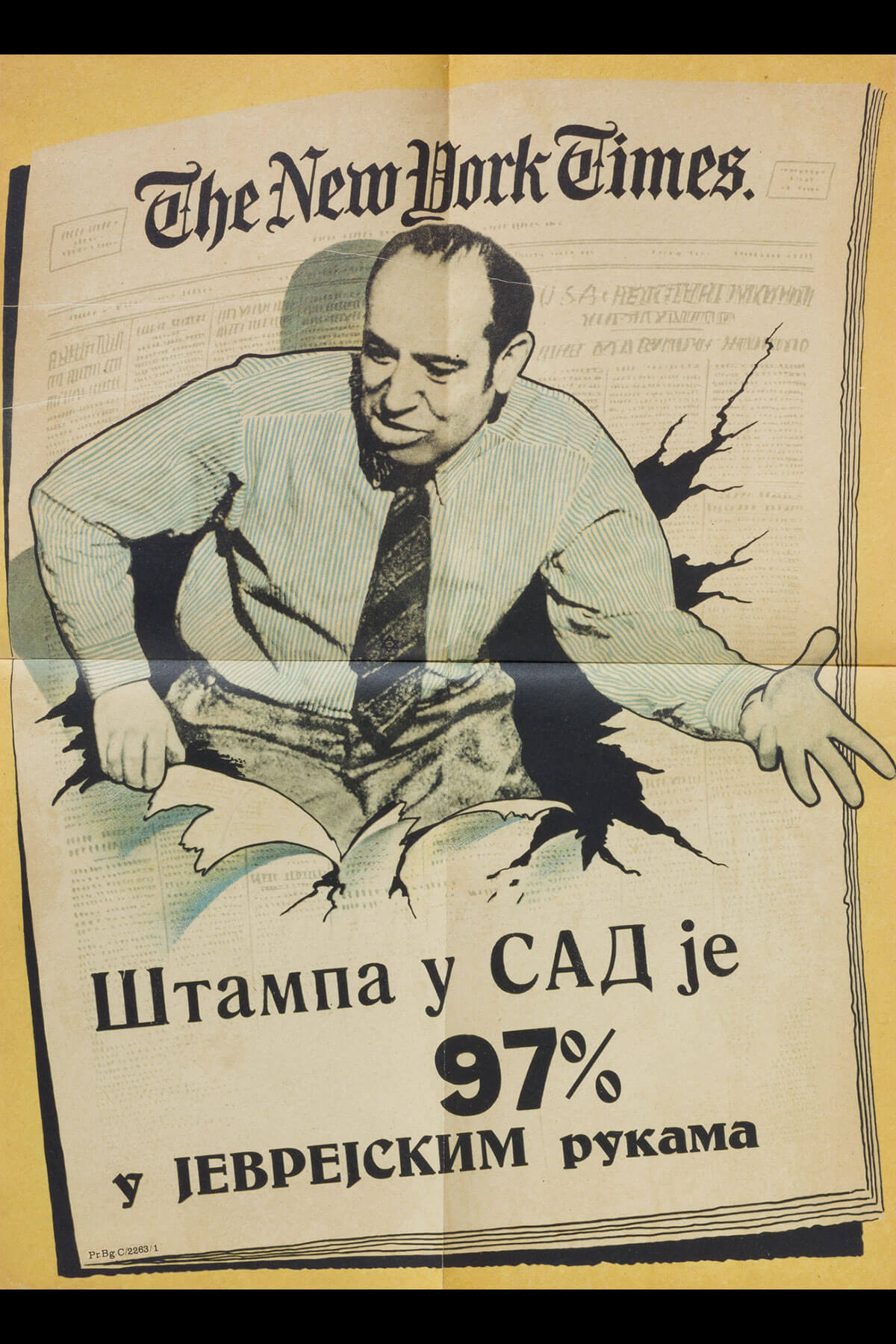180. An Anti-Semitic Poster Published by the Yugoslav Nazi Party in Belgrade, Serbia