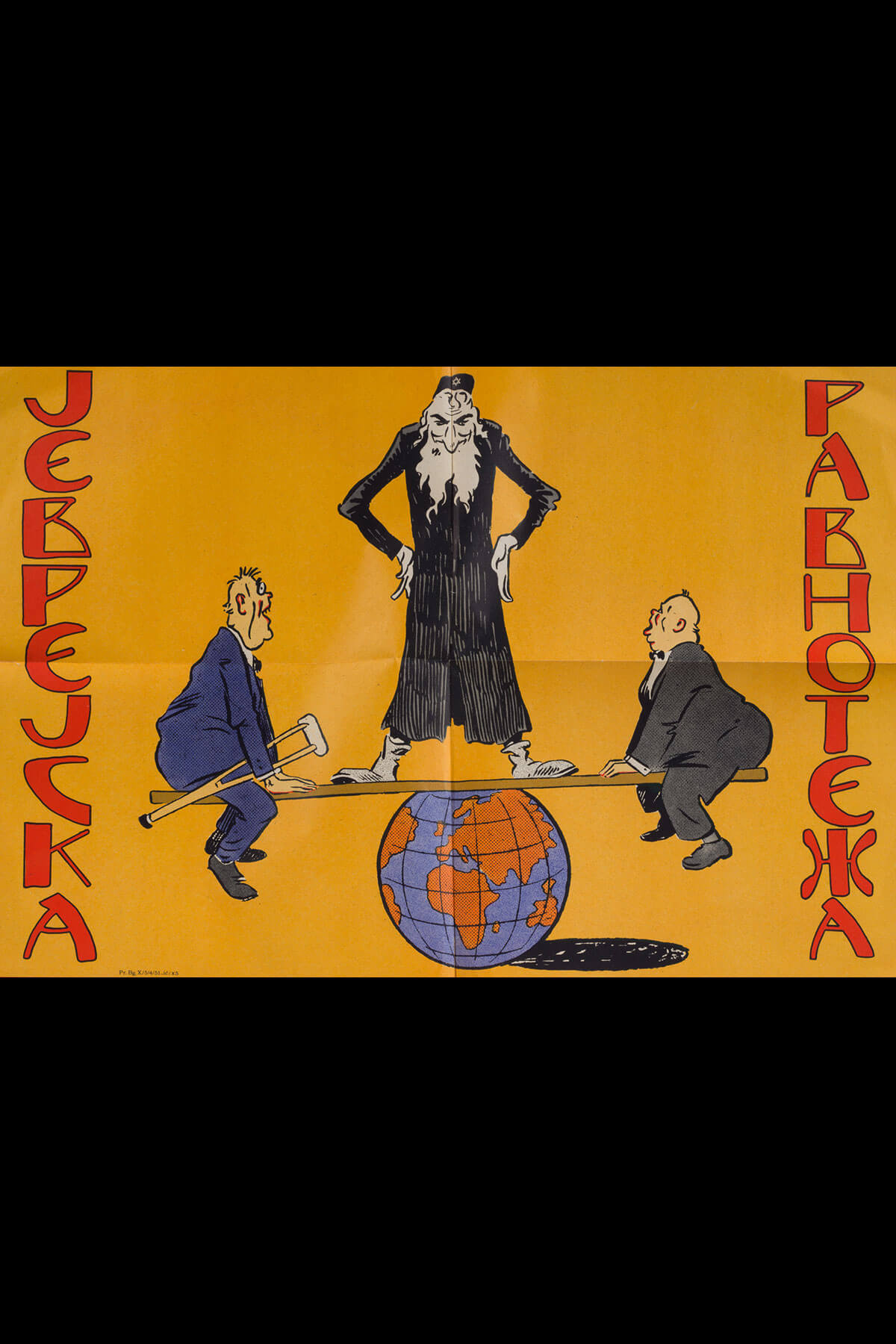 182. An Anti-semitic Poster Published by the Yugoslav Nazi Party