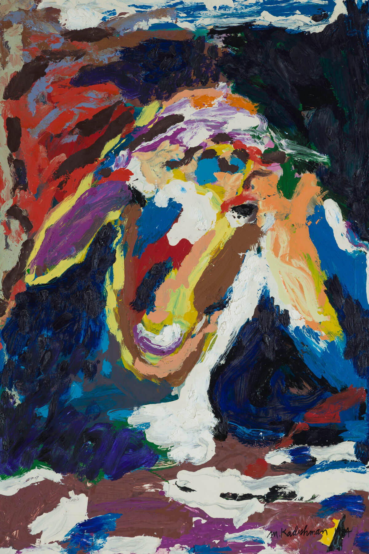 161. Abstract Sheep's Head by Menashe Kadishman (1984)