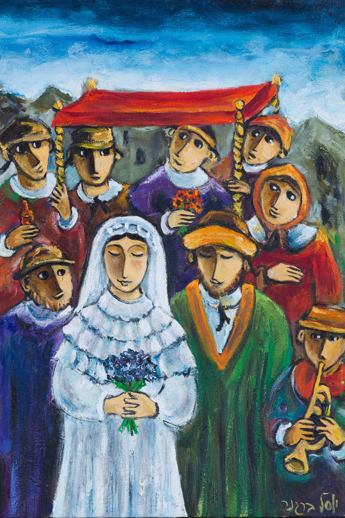 163. Wedding Scene by Yosl Bergner