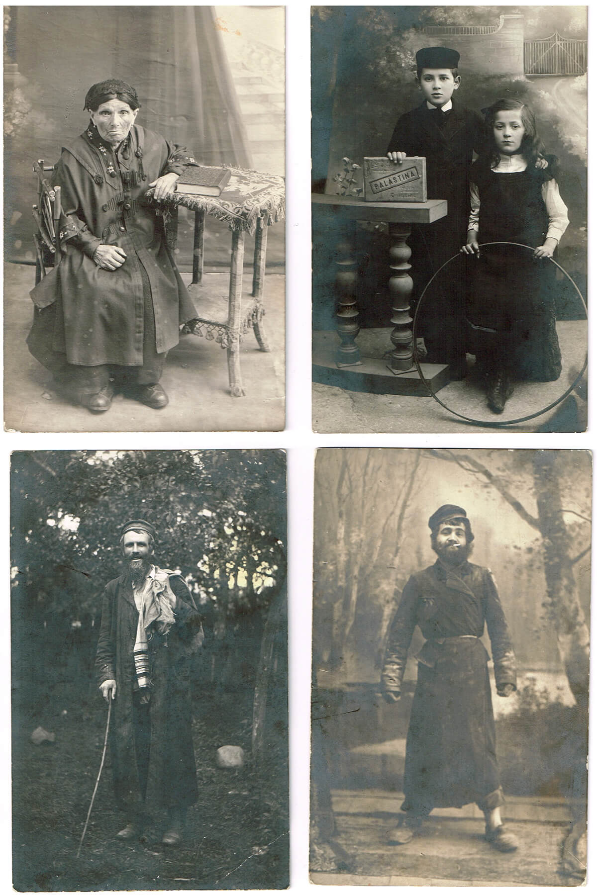 187. A Rare Collection of 27 Postcards of Lithuanian And Polish Jews