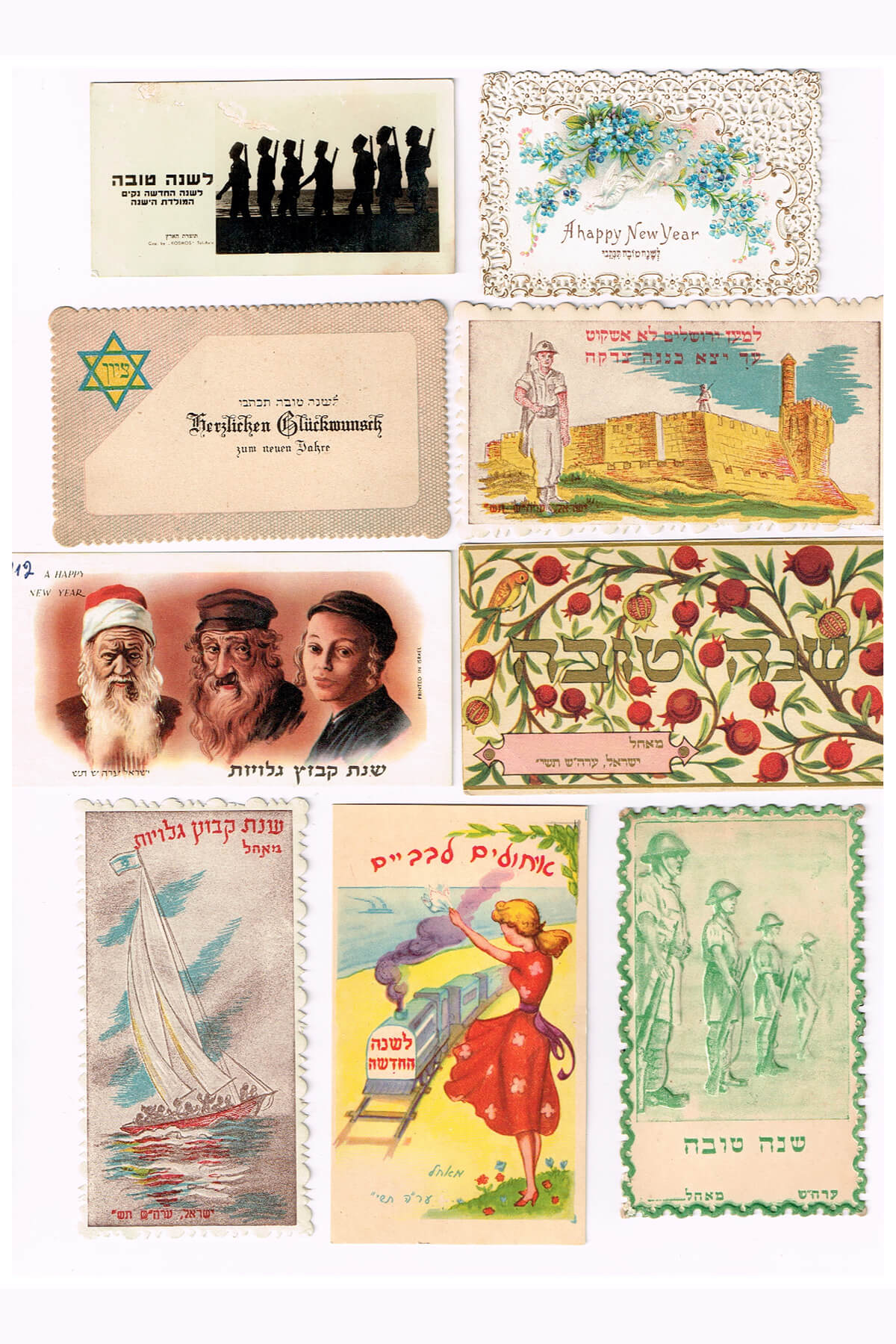 188. A Collection of 60 Jewish New Year Greeting Cards