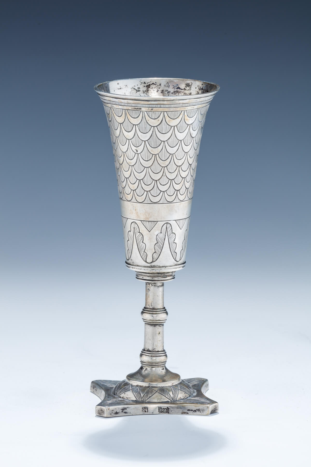 56. A Large Silver Kiddush Goblet