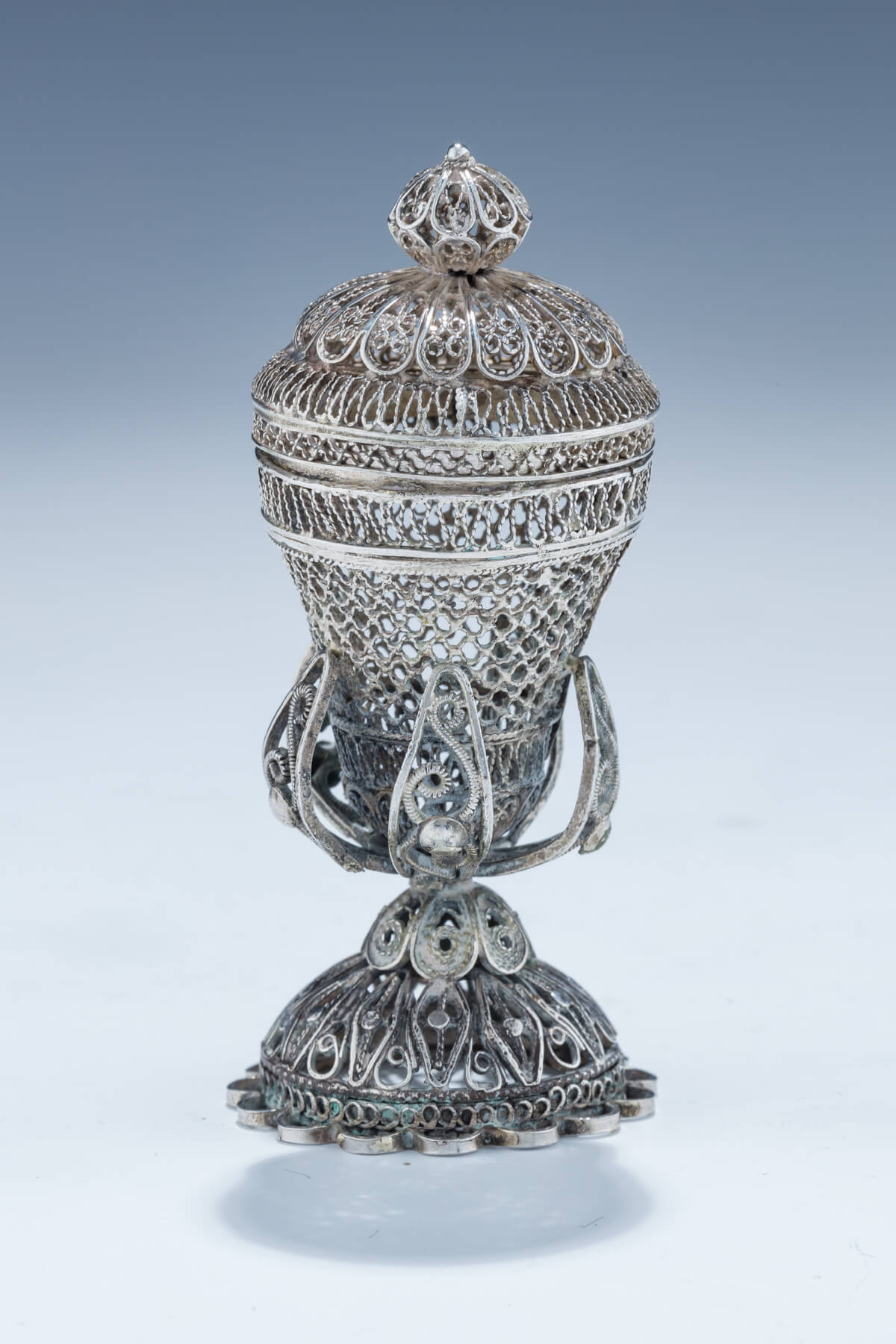 44. A Silver Spice Container
