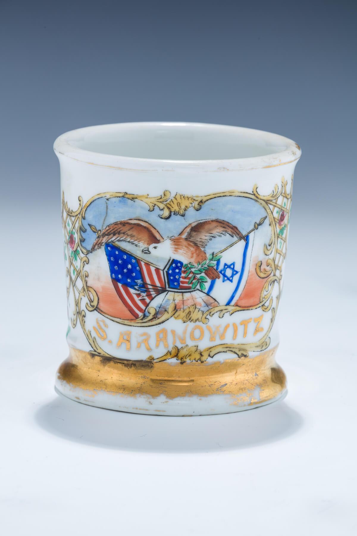 19. A Ceramic Mustache Cup