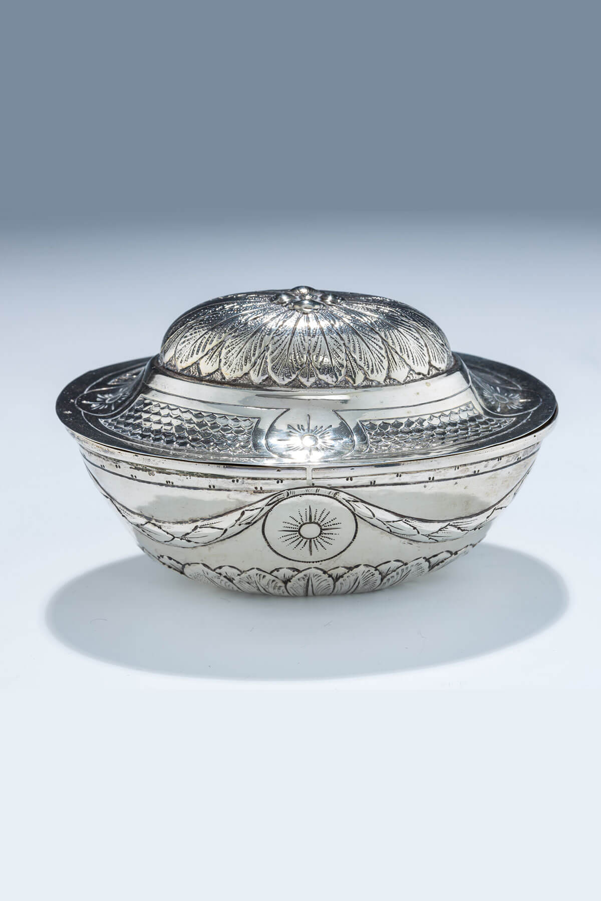 51. A Silver Etrog Container