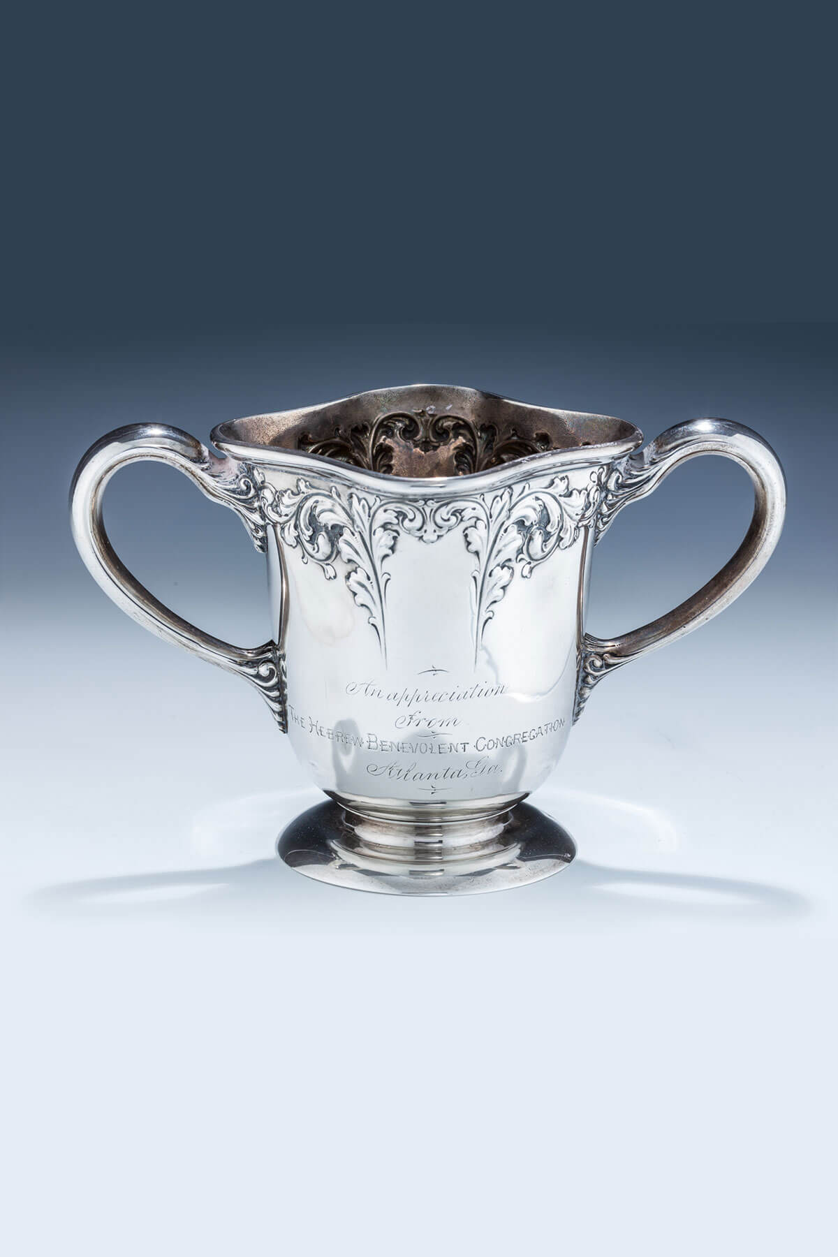 99. An Important Sterling Silver Two Handled Cup