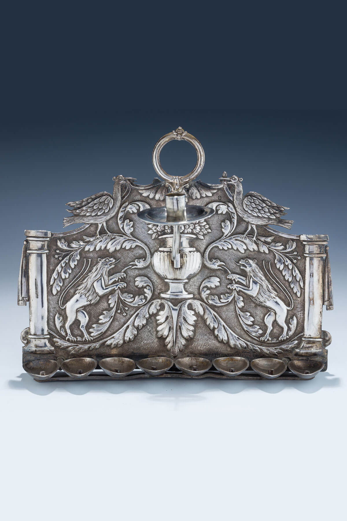 118. An Early Silver Chanukah Lamp