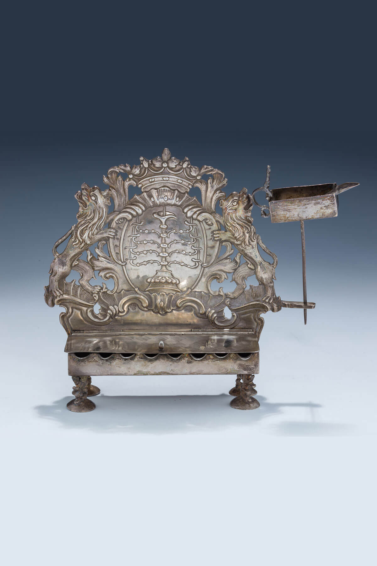 122. A Rare And Important Chanukah Lamp by Johann Jakob Leschorn