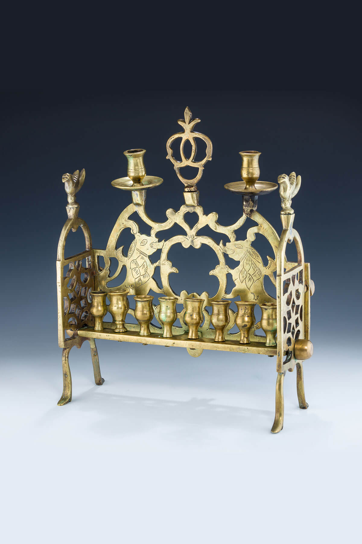 102. A Large And Important Brass Chanukah Lamp