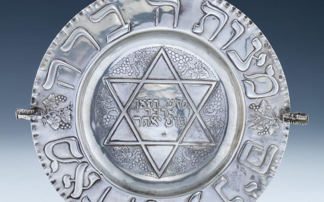83. A Silver Havdallah Plate