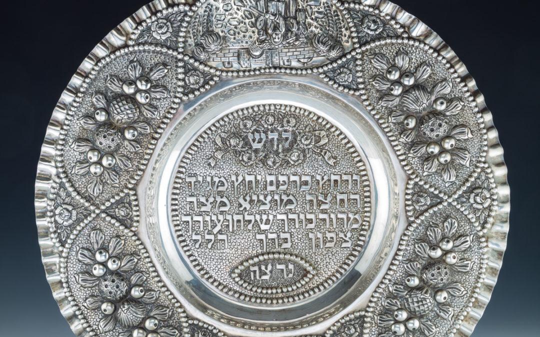 68. A Silver Seder Dish