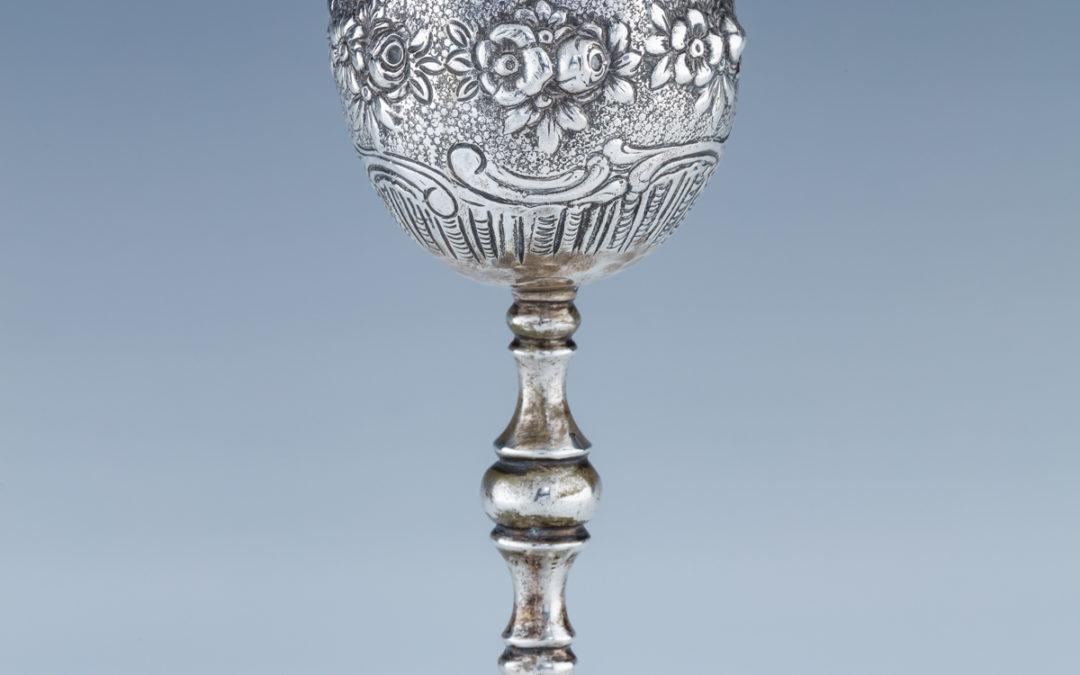 12. A Large Silver Kiddush Goblet