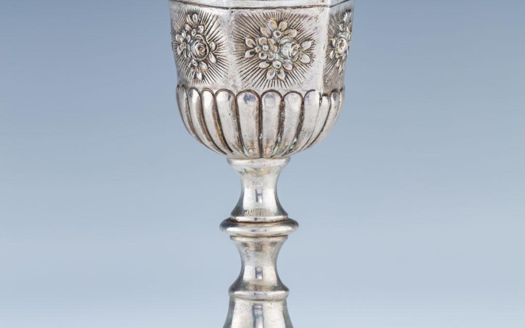 37. A Silver Kiddush Goblet