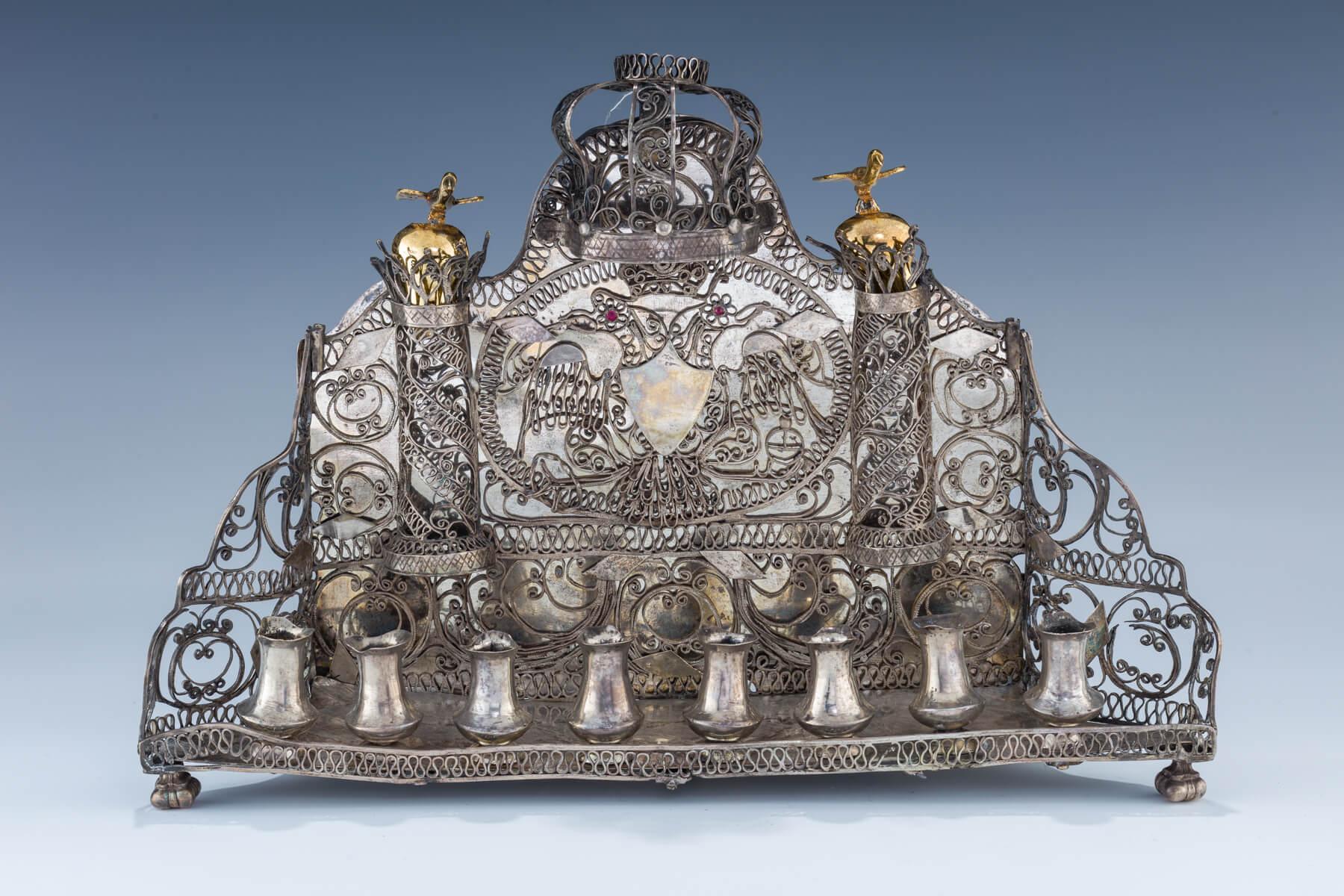 52. A Silver Hanukkah Lamp