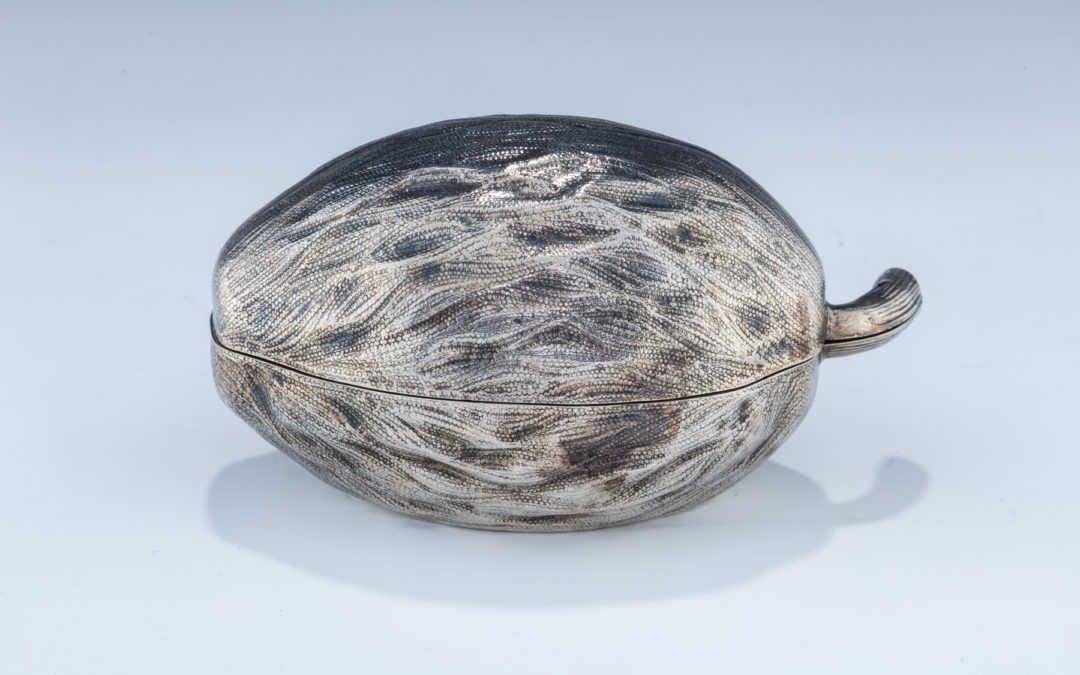 40. An Early Silver Etrog Container