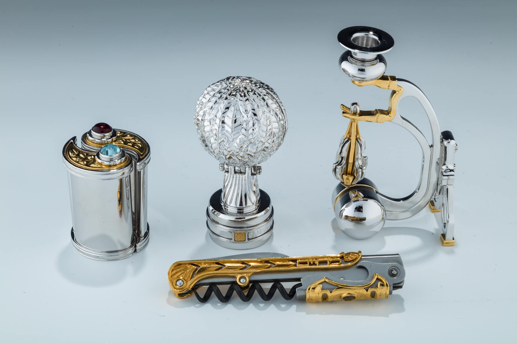 98. A Group Of Four Judaica Items By Swed Master Silversmiths