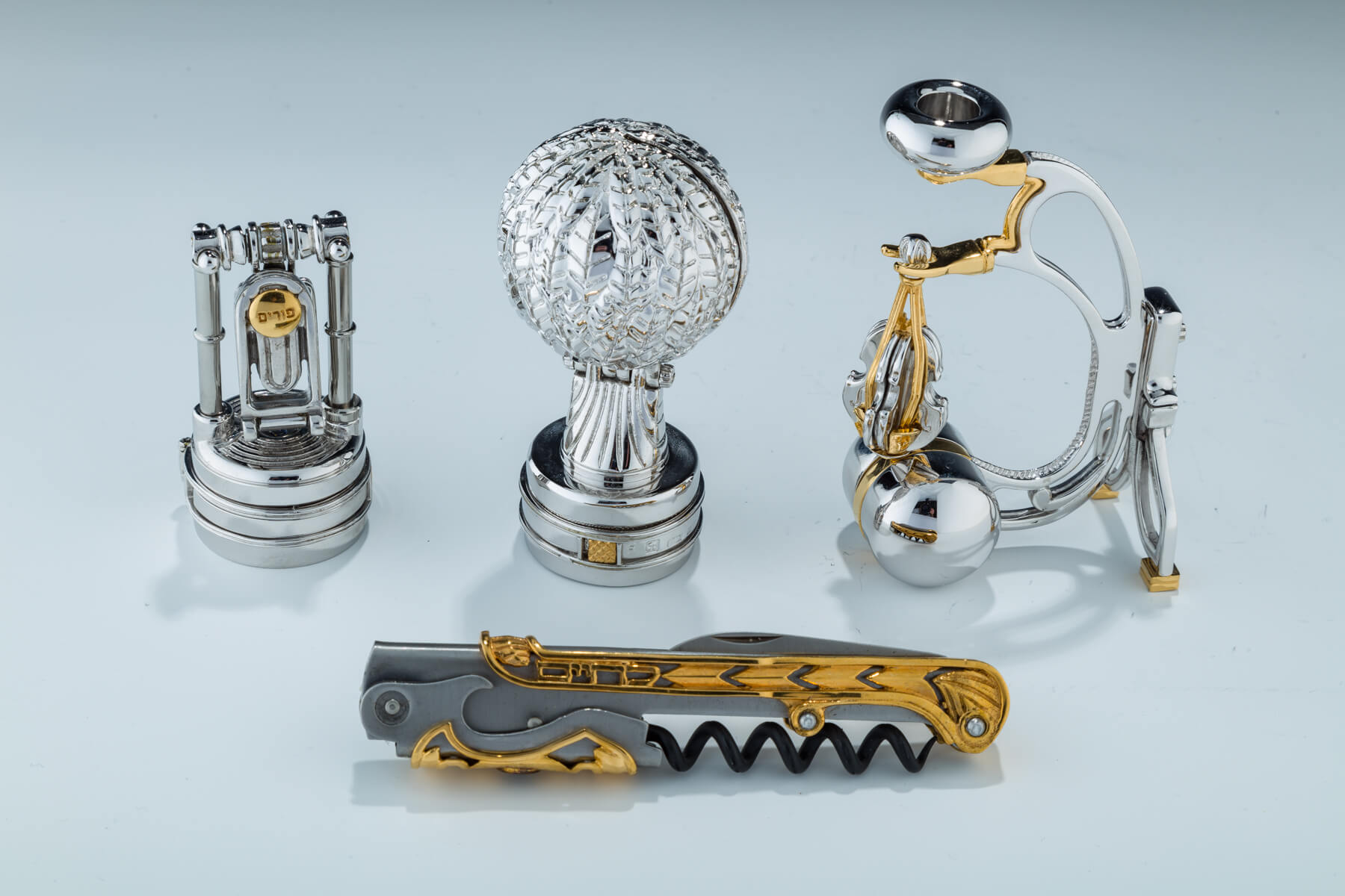 96. A Group Of Four Judaica Items By Swed Master Silversmiths