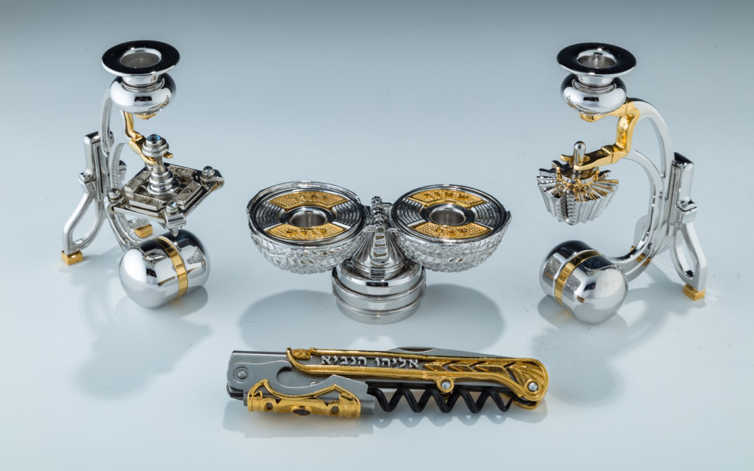 95. A Group Of Four Judaica Items By Swed Master Silversmiths