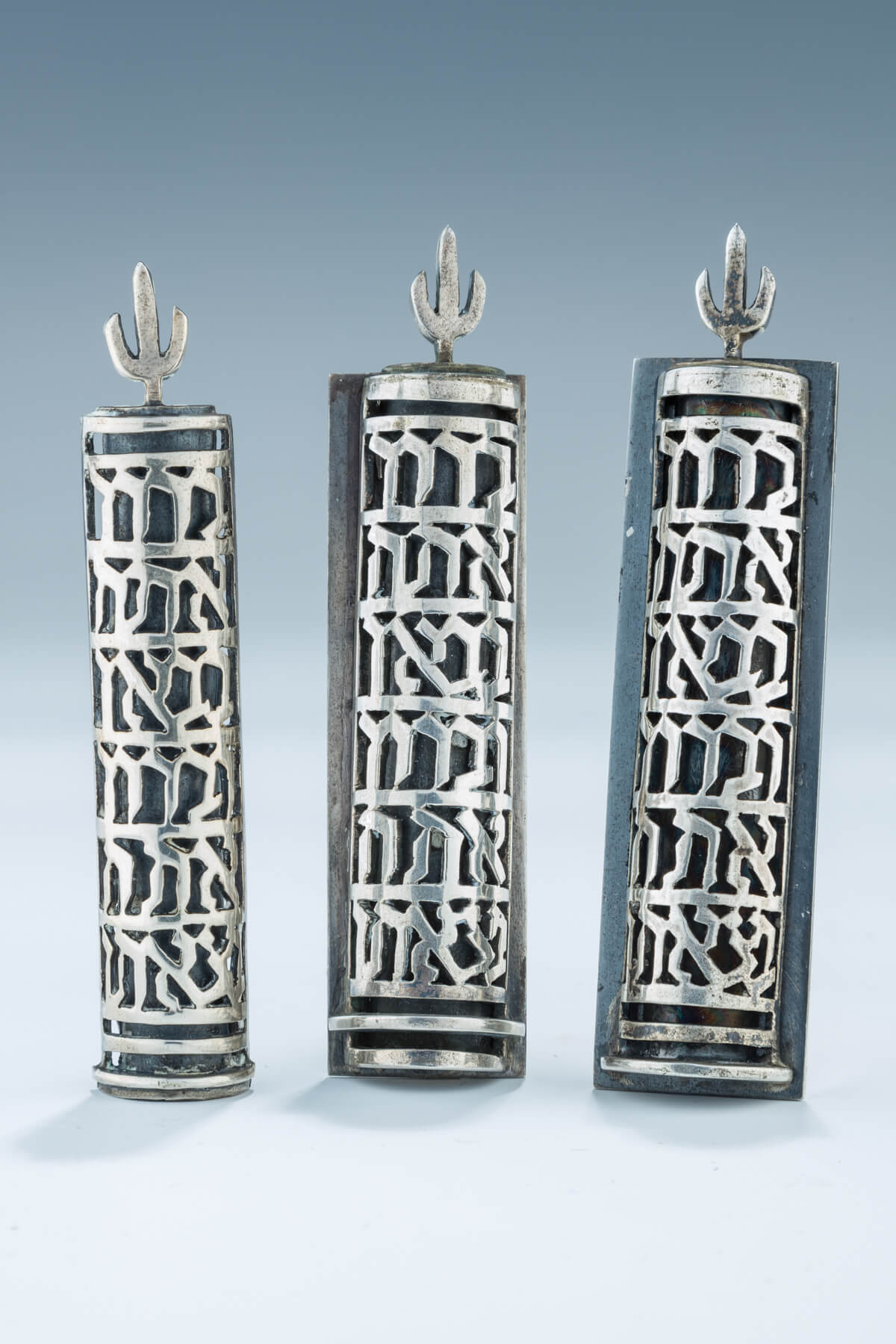 83. Three Sterling Silver Mezuzot By Ludwig Wolpert