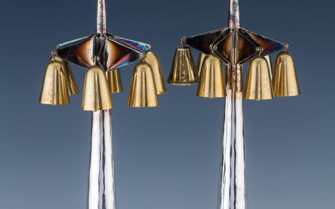 33. A Pair Of Silver Torah Finials