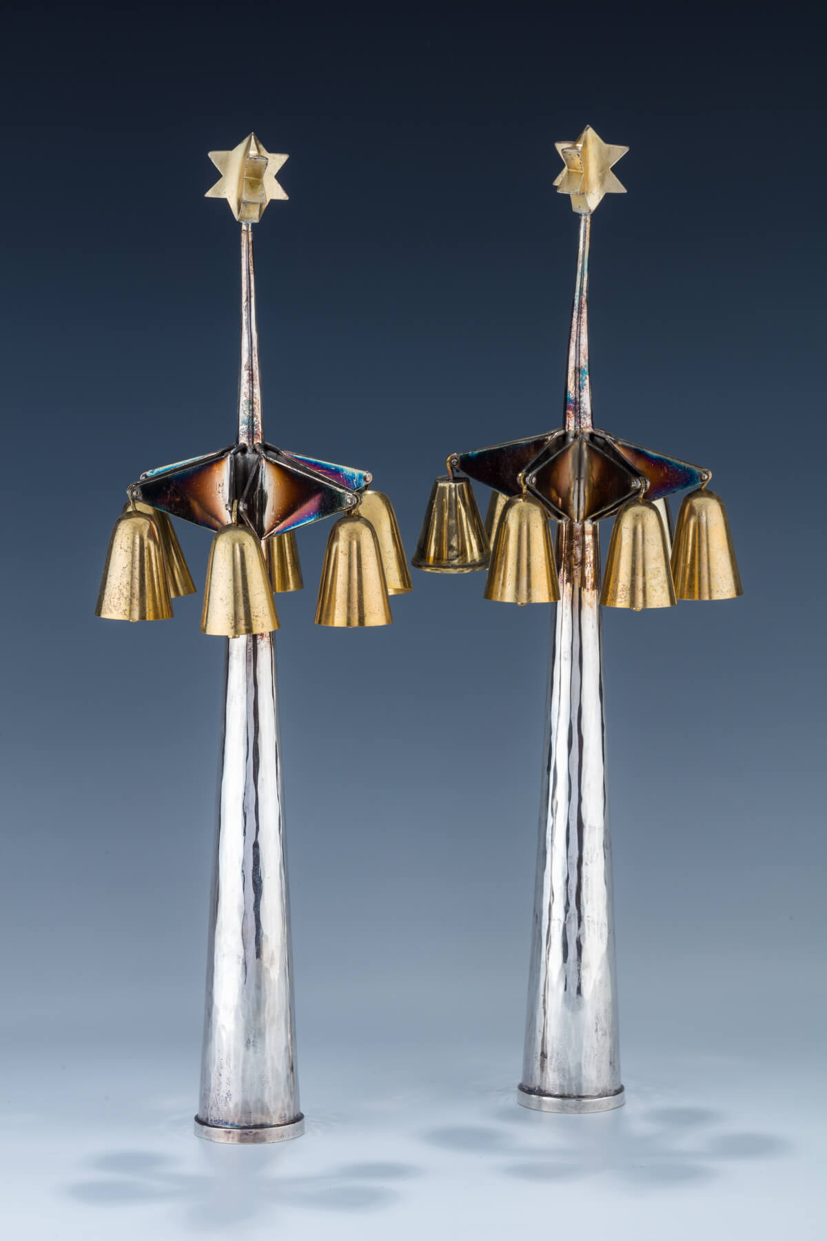 33. A Pair Of Silver Torah Finials