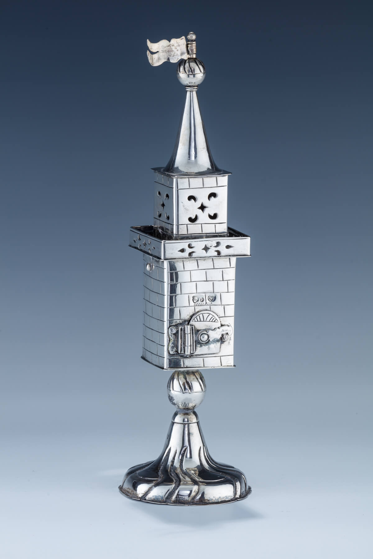 75. An Exceptional Silver Spice Tower By Johann Nicholas Wollenberg