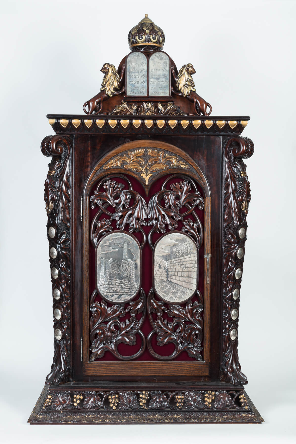 120. A Monumental Wooden And Silver Torah Ark By Shuki Freiman