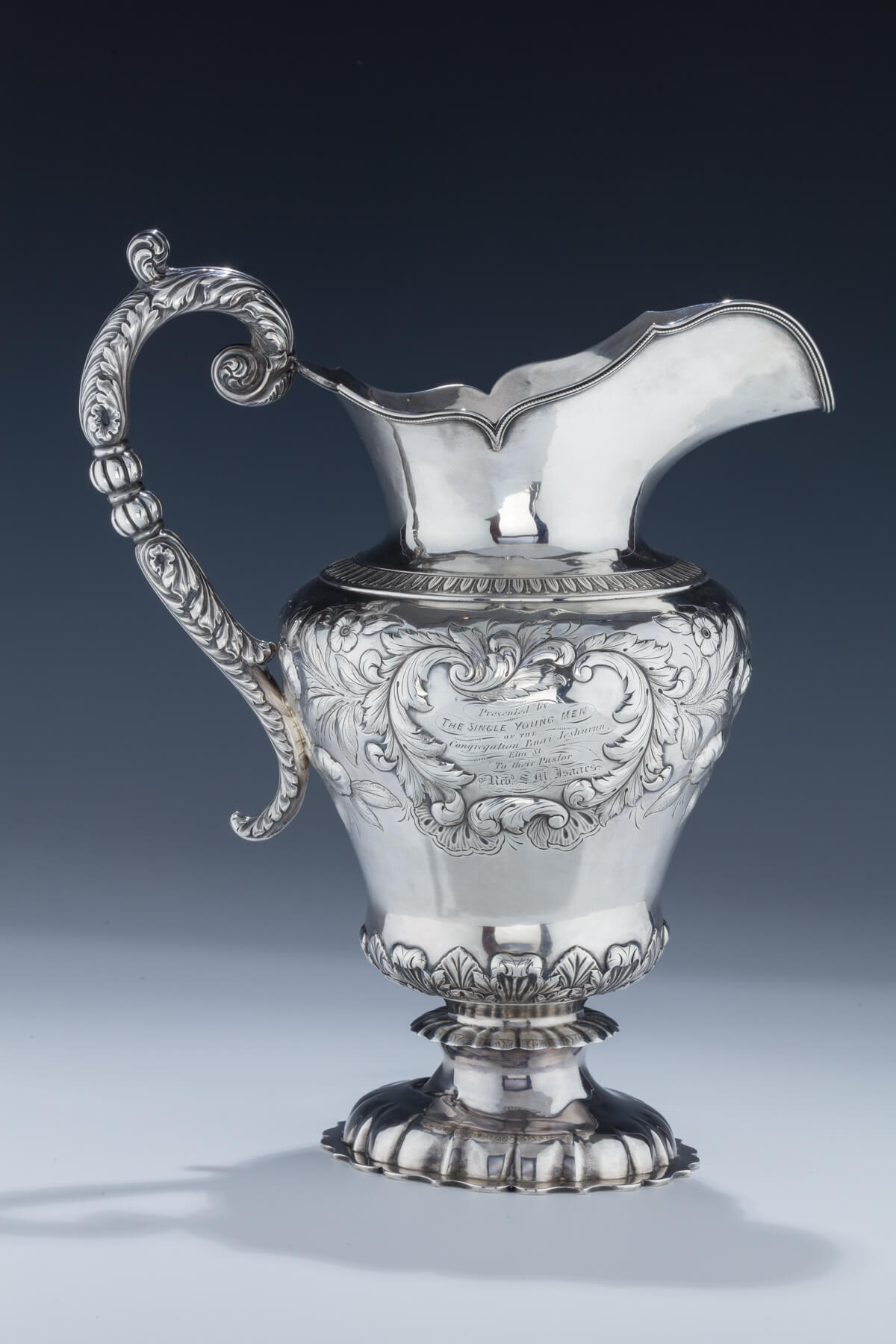 136. A Rare and Important Presentation Water Pitcher by Gale Wood and Hughes