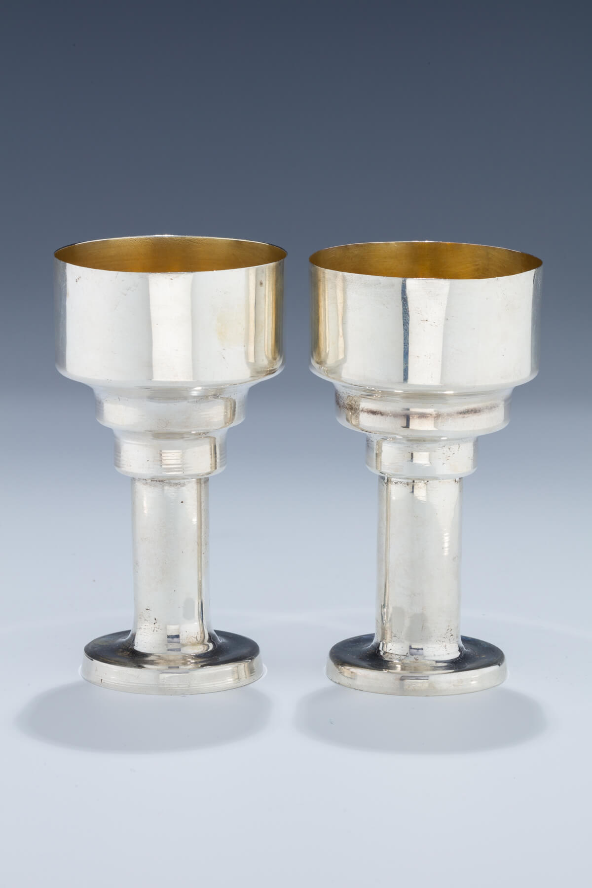 144. A Pair of Sterling Silver Kiddush Cups by B. Friedlaender