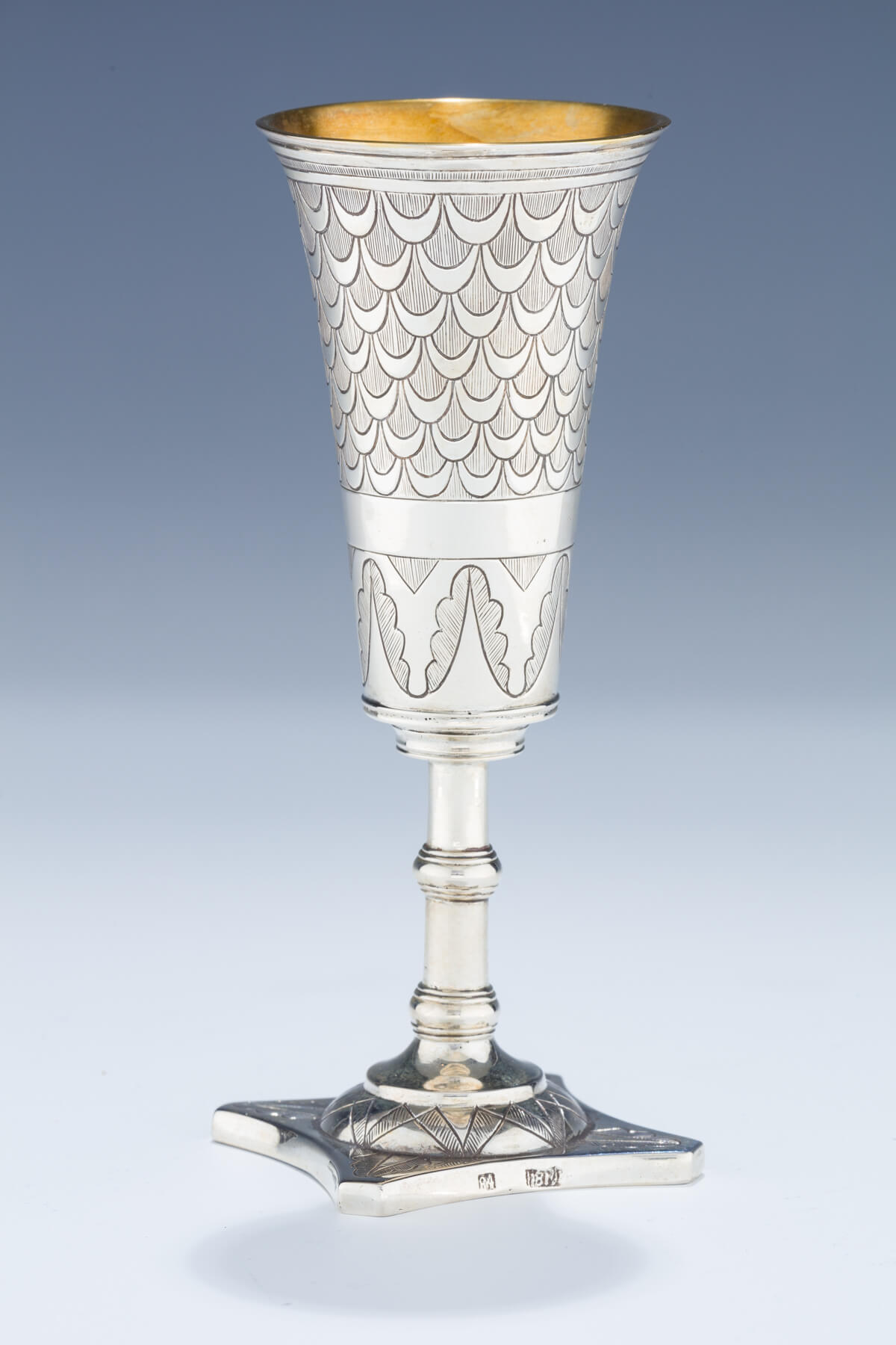 012. A Large Silver Kiddush Goblet
