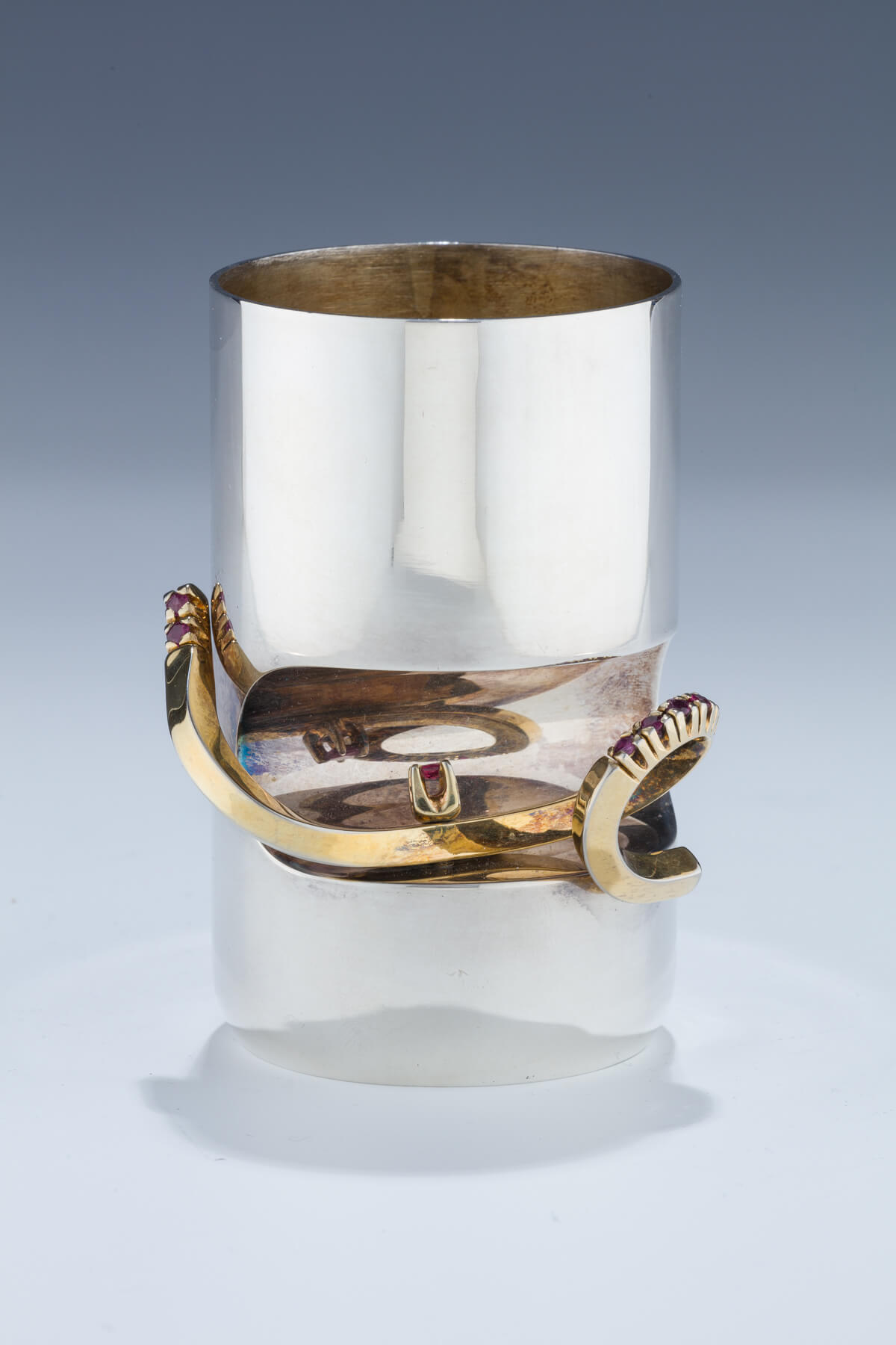168. A Sterling Silver Kiddush Cup by Carmel Shabi